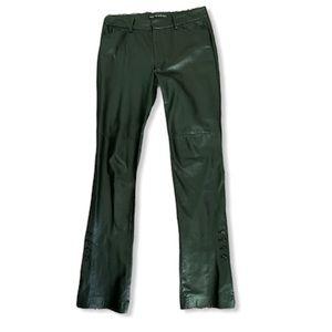 Vintage 90s Ralph Lauren black leather pants